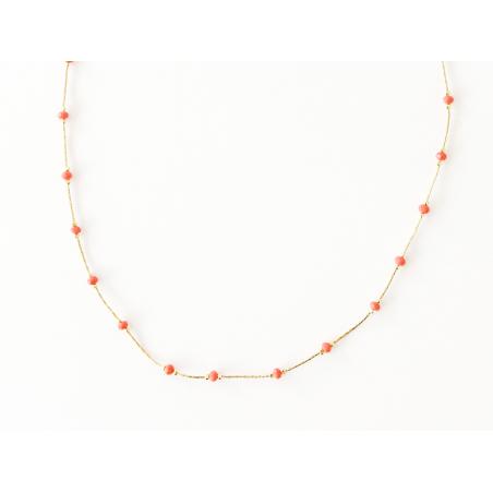 Acheter Collier chaîne serpentine avec petites perles en verre corail - 12,50€ en ligne sur La Petite Epicerie - 100% Loisir...