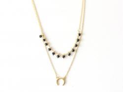 copy of Collier chaîne serpentine avec petites perles en verre Les Cleias - 1