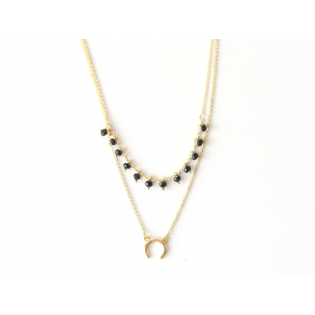 Collier double - perles et corne Les Cleias - 1