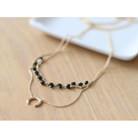 Collier double - perles et corne Les Cleias - 3