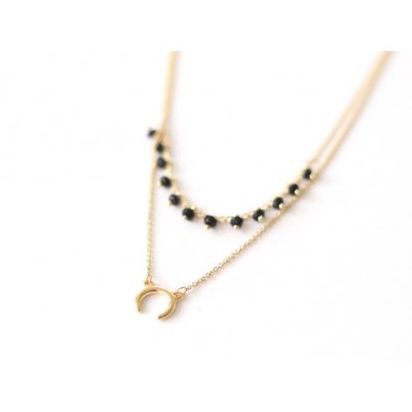 Collier double - perles et corne Les Cleias - 2