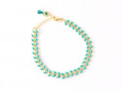 Acheter Bracelet chaîne épi - émail vert émeraude - 15,00€ en ligne sur La Petite Epicerie - 100% Loisirs créatifs