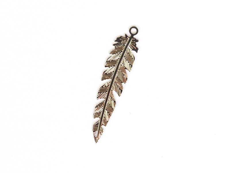 Acheter Plume filigranée en laiton argenté - 0,99€ en ligne sur La Petite Epicerie - 100% Loisirs créatifs