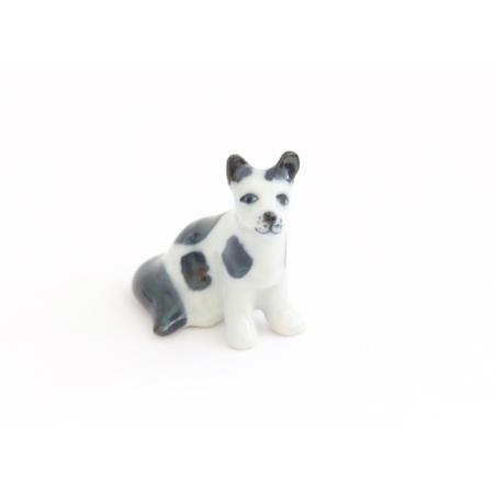 Acheter Chien blanc aux tâches noires, miniature - 7,50€ en ligne sur La Petite Epicerie - 100% Loisirs créatifs