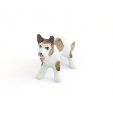 Acheter Chien blanc aux tâches brunes, miniature - 7,50€ en ligne sur La Petite Epicerie - 100% Loisirs créatifs