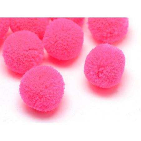 Pompon rose fluo - 25mm  - 1