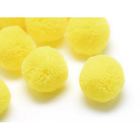 Pompon jaune - 25mm  - 1