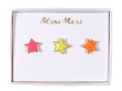 3 pin's broches étoiles Meri Meri - 1