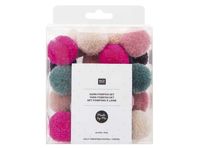 Acheter Set pompons - Noël pastel - 4,99€ en ligne sur La Petite Epicerie - Loisirs créatifs