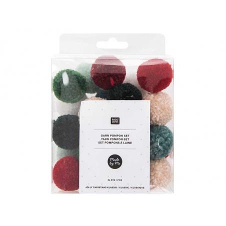 Acheter Set pompons - Noël - 4,99€ en ligne sur La Petite Epicerie - Loisirs créatifs