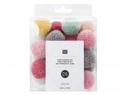 Acheter Set pompons - Pastel - 4,99€ en ligne sur La Petite Epicerie - Loisirs créatifs