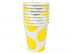 8 gobelets en carton - motif citrons Meri Meri - 1