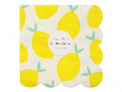 20 serviettes en papier - motif citrons Meri Meri - 1
