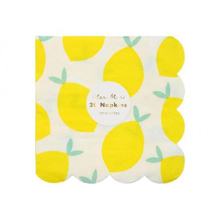Acheter 20 serviettes en papier - motif citrons - 5,19€ en ligne sur La Petite Epicerie - 100% Loisirs créatifs