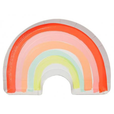 Acheter 12 assiettes en carton - arc-en-ciel - 5,99€ en ligne sur La Petite Epicerie - 100% Loisirs créatifs