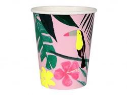 12 gobelets en carton - Tropical Meri Meri - 1