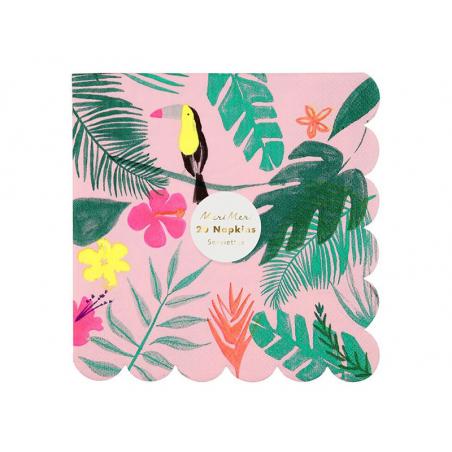 Acheter 20 serviettes en papier - Tropical - 5,99€ en ligne sur La Petite Epicerie - Loisirs créatifs