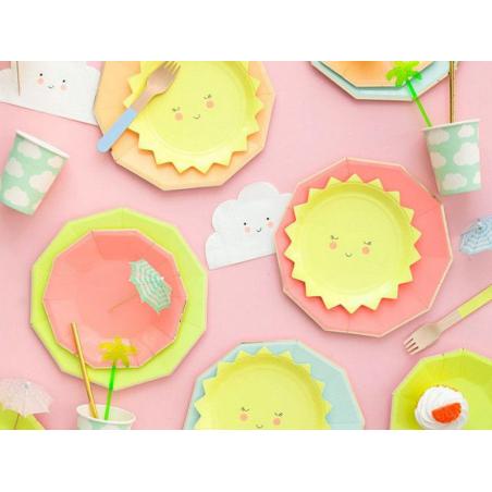 Acheter 12 assiettes en carton - Soleil - 5,19€ en ligne sur La Petite Epicerie - Loisirs créatifs