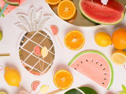 Acheter 8 assiettes en carton - Ananas - 5,99€ en ligne sur La Petite Epicerie - Loisirs créatifs