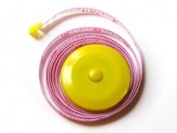 Mètre à couture - jaune  - 1