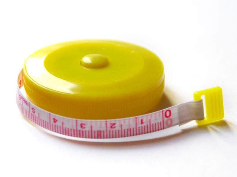 Mètre à couture - jaune  - 3