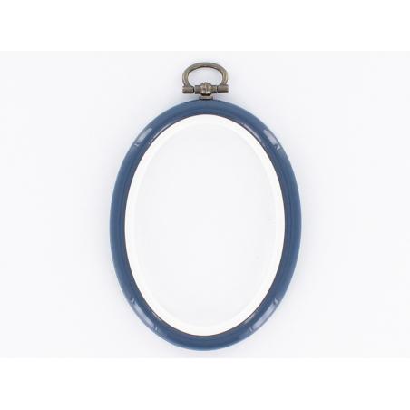 Acheter Tambour à broder ovale bleu marine - 8.5 x 6.5 cm - 0,60€ en ligne sur La Petite Epicerie - 100% Loisirs créatifs