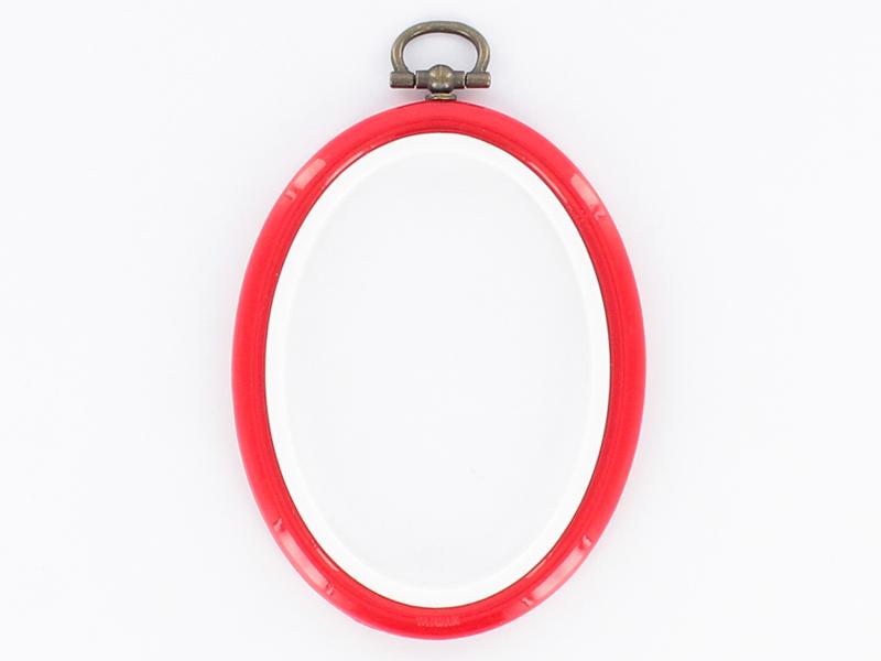 Acheter Tambour à broder ovale rouge - 8.5 x 6.5 cm - 0,60€ en ligne sur La Petite Epicerie - 100% Loisirs créatifs