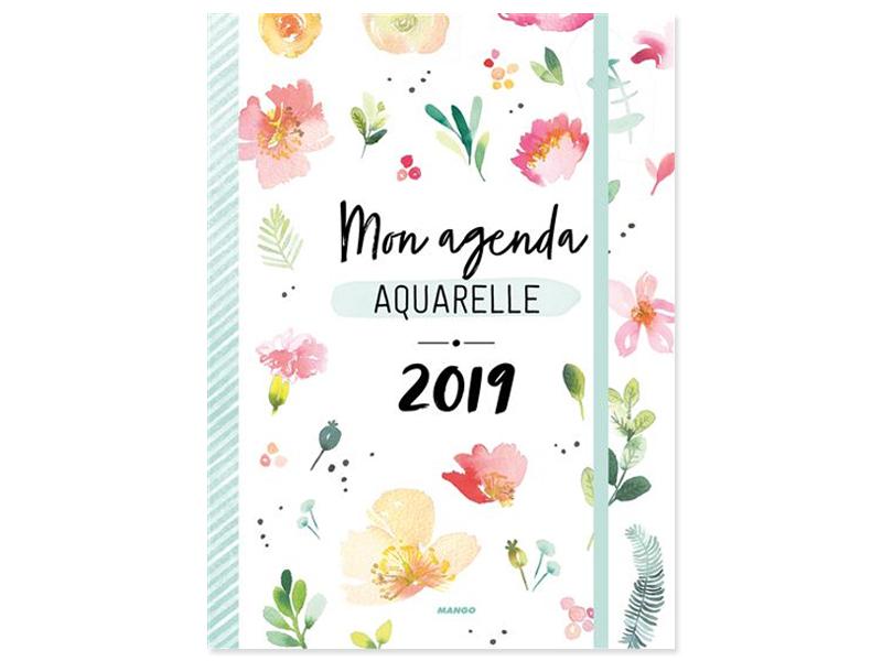 Mon agenda aquarelle 2019 MANGO - 1