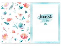 Mon agenda aquarelle 2019 MANGO - 2