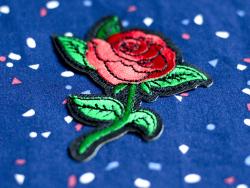 Écusson thermocollant - Rose style tattoo La petite épicerie - 4