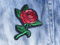 Écusson thermocollant - Rose style tattoo La petite épicerie - 3
