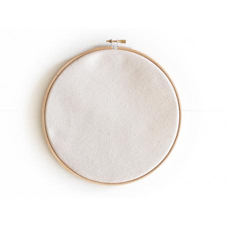 Pack maxi tambour à broder et tissu canvas - 20 cm Kesi art - 1