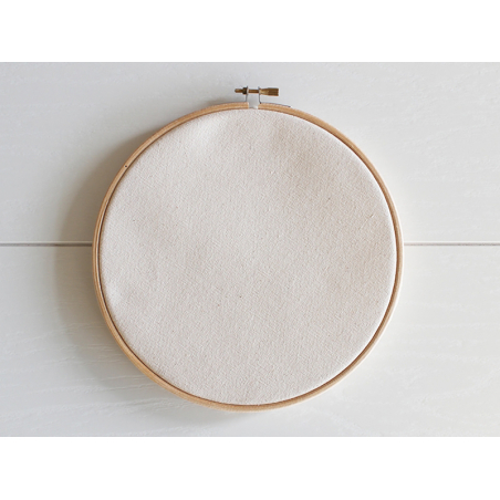 Pack maxi tambour à broder et tissu canvas - 20 cm Kesi art - 3