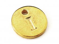 Breloque ronde lettre I - doré  - 1