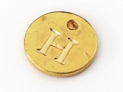 Acheter Breloque ronde lettre H - doré - 0,79€ en ligne sur La Petite Epicerie - 100% Loisirs créatifs