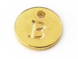 Acheter Breloque ronde lettre B - doré - 0,79€ en ligne sur La Petite Epicerie - 100% Loisirs créatifs