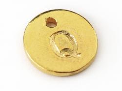 Breloque ronde lettre Q - doré  - 1