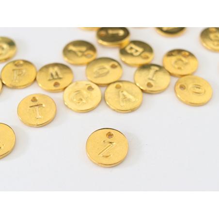 Acheter Breloque ronde lettre Z - doré - 0,79€ en ligne sur La Petite Epicerie - Loisirs créatifs