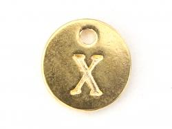 Acheter Breloque ronde lettre X - doré - 0,79€ en ligne sur La Petite Epicerie - Loisirs créatifs