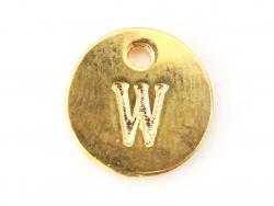 Acheter Breloque ronde lettre W - doré - 0,79€ en ligne sur La Petite Epicerie - Loisirs créatifs
