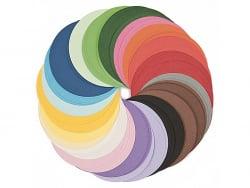 200 feuilles de papier Origami - 20 couleurs - 15 cm diamètre Rico Design - 1