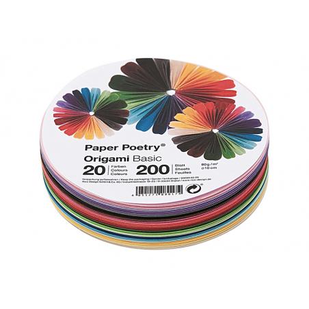 Acheter 200 feuilles de papier Origami - 20 couleurs - 15 cm diamètre - 7,49€ en ligne sur La Petite Epicerie - Loisirs créa...