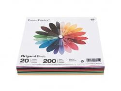 200 feuilles de papier Origami - 20 couleurs -carré 7.5 x 7.5 Rico Design - 1