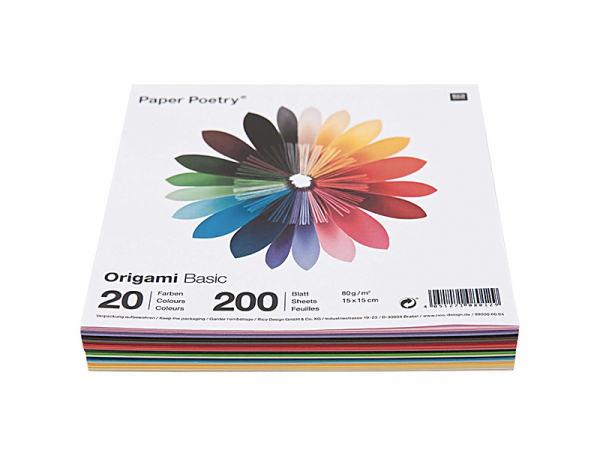 Acheter 200 feuilles de papier Origami - 20 couleurs -carré 7.5 x 7.5 - 2,49€ en ligne sur La Petite Epicerie - Loisirs créa...