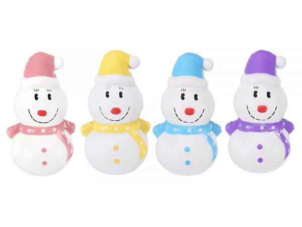 Squishy Bonhomme de neige - couleur aléatoire  - 1