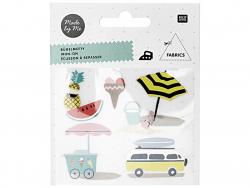 Petits écussons thermocollants - Thème Summer Rico Design - 1