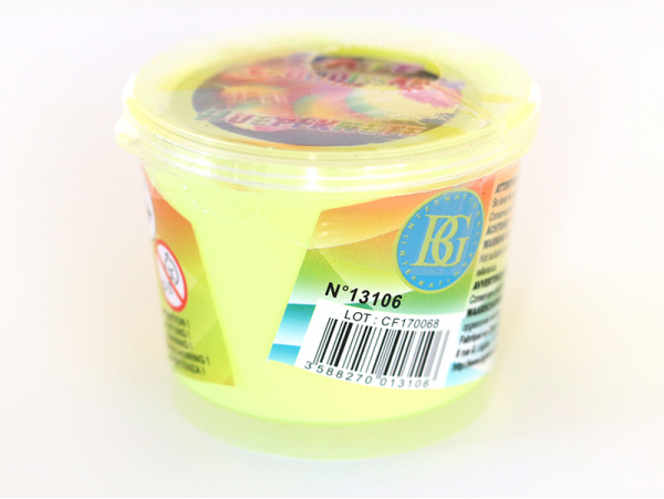 Pâte rebondissante - jaune fluo  - 1