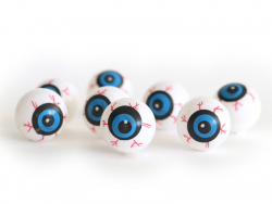 Sachet de 8 yeux en plastique  - 1