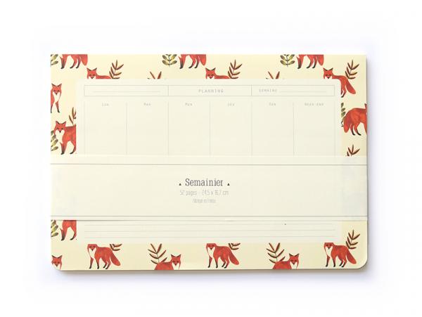 Acheter Semainier - Renards - 11,90€ en ligne sur La Petite Epicerie - 100% Loisirs créatifs