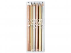 Acheter 6 crayons graphite - couleurs métalliques - 7,99€ en ligne sur La Petite Epicerie - 100% Loisirs créatifs